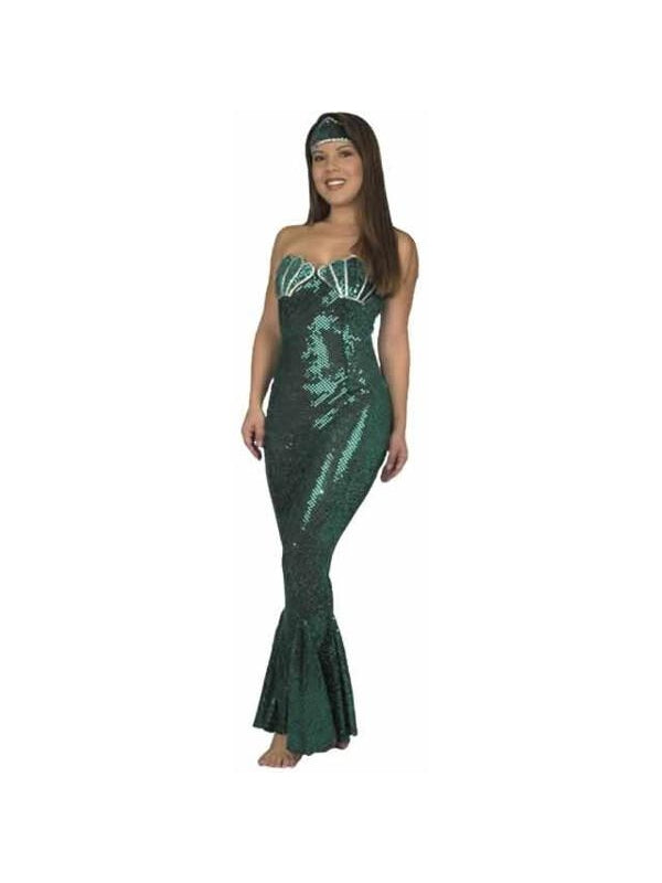 Adult Sequin Mermaid Costume-COSTUMEISH