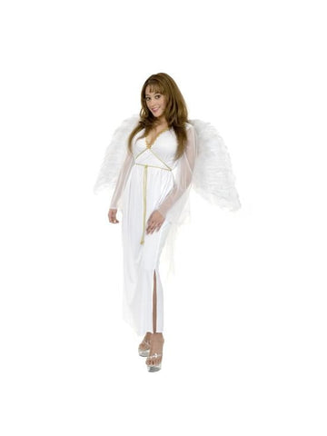 Adult White Angel Gown Costume-COSTUMEISH