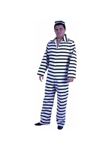 Adult Striped Prison Costume