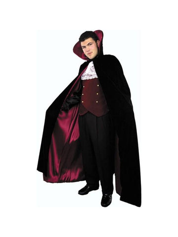 Adult Velvet Vampire Cape Costume
