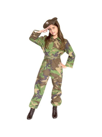 Child's GI Army Girl Costume
