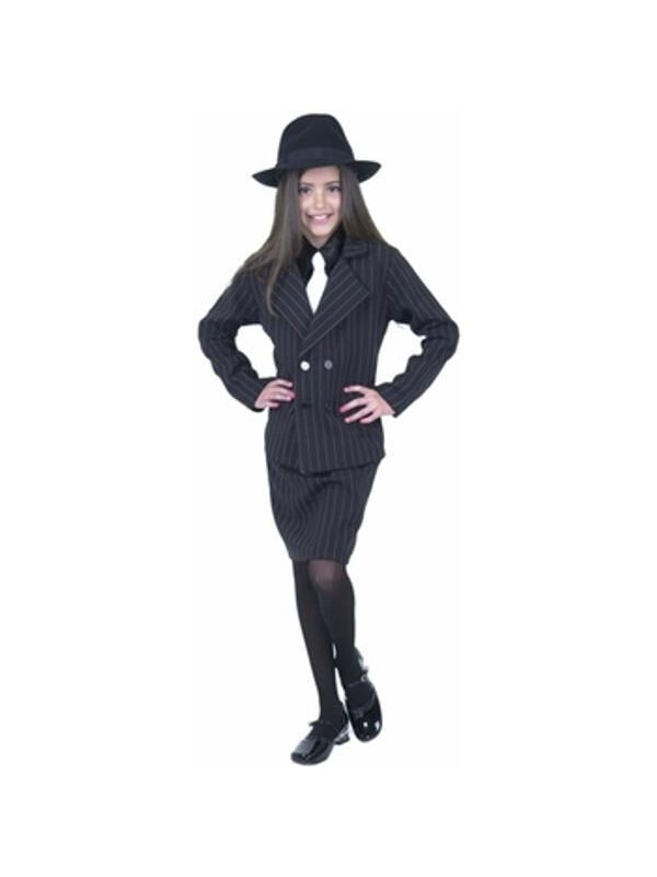 Child's Girl Gangster Costume-COSTUMEISH
