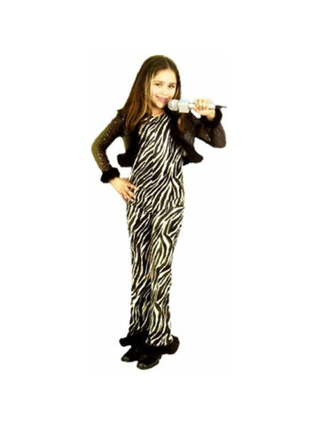 Child's Zebra Rock Star Diva Costume