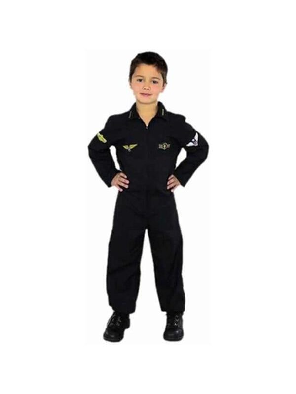Child's Air Force Stealth Pilot Costume-COSTUMEISH