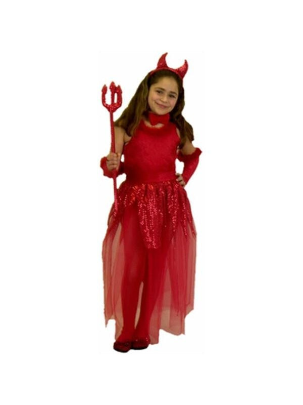 Childs Devil Girl Costume-COSTUMEISH