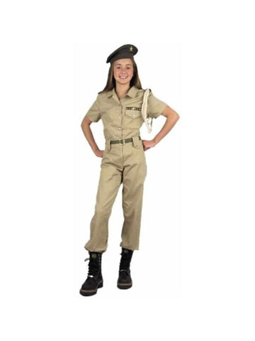Childs Khaki Military Costume