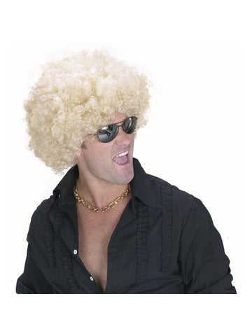 Men's Blonde Afro Wig-COSTUMEISH