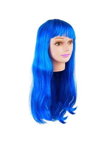 Blue Long Hair Wig