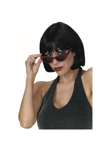 Adult Black Short Bob Wig-COSTUMEISH