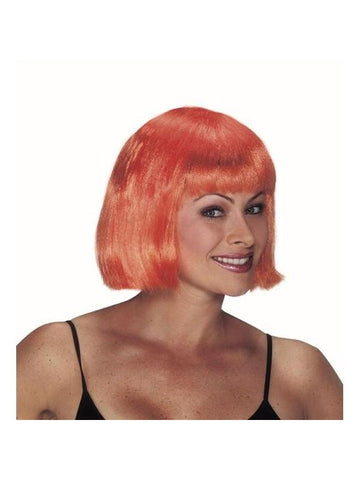 Adult Orange Short Bob Wig