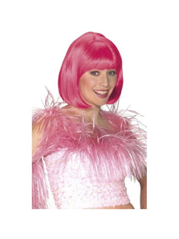 Adult Pink Short Bob Wig-COSTUMEISH