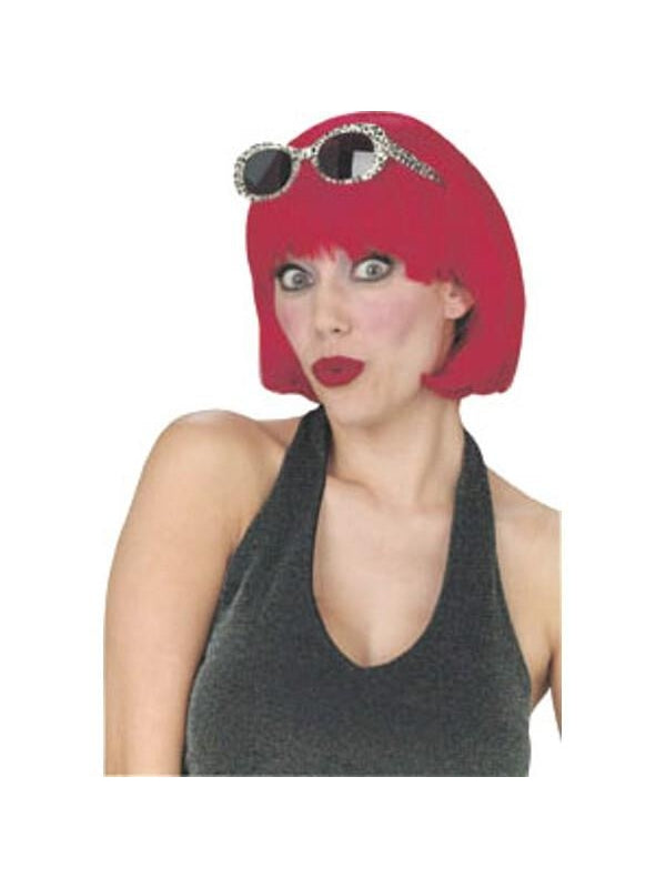 Adult Red Short Bob Wig-COSTUMEISH