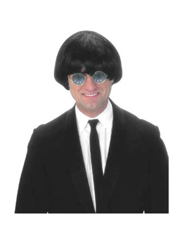 Adult 60's Black Beatles Costume Wig-COSTUMEISH