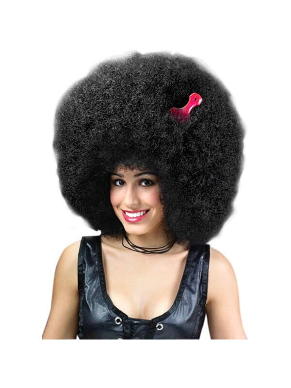 Adult Super Large Black Afro Wig-COSTUMEISH