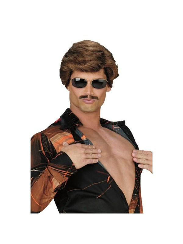 Adult Brown Leading Man Wig-COSTUMEISH