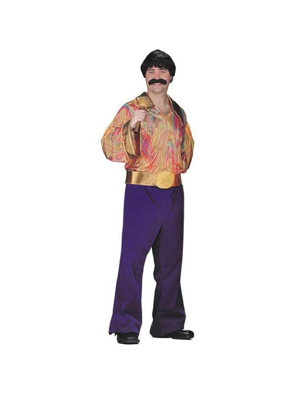 Adult 70's Hippie Man Costume-COSTUMEISH