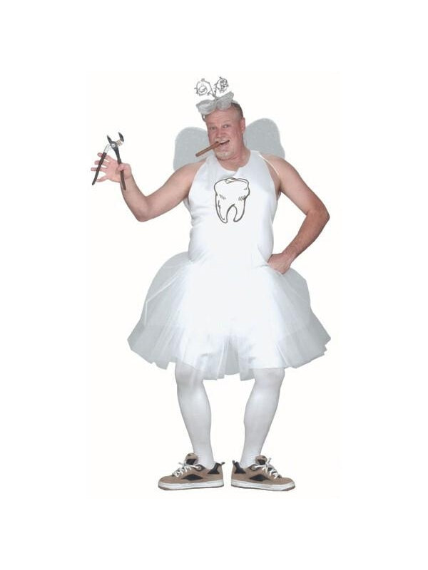 Adult Plus Size Male Tooth Fairy Costume-COSTUMEISH