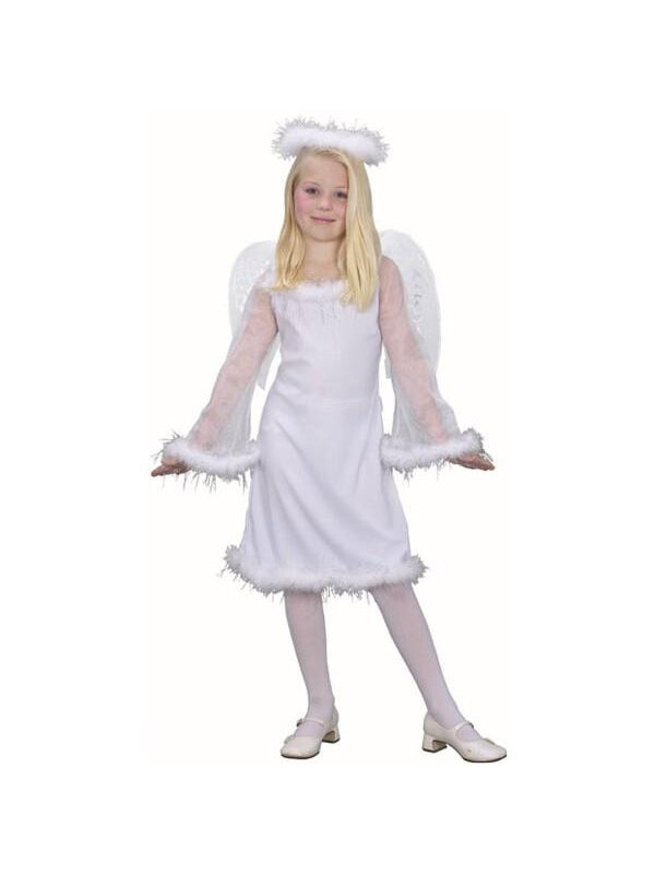 Child's White Angel Costume-COSTUMEISH