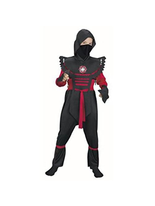 Child's Red Fury Ninja Costume-COSTUMEISH