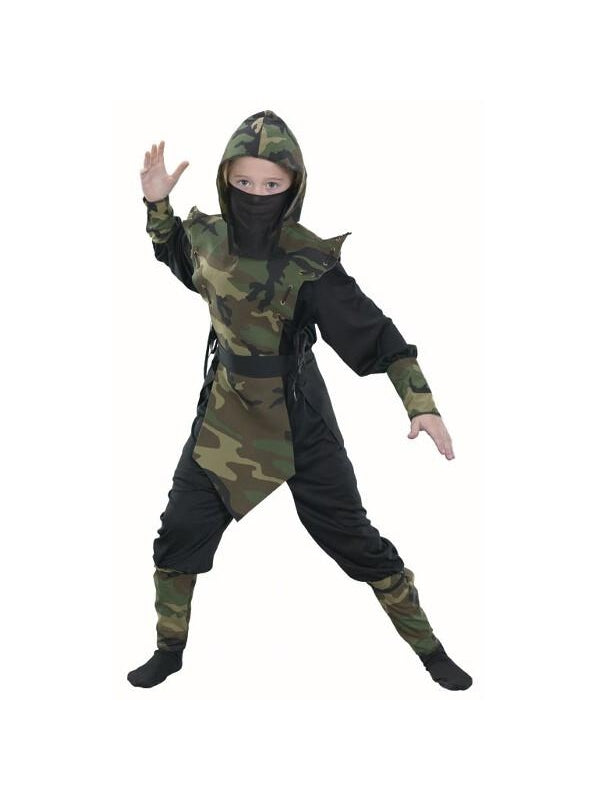 Childs Camouflage Ninja Costume-COSTUMEISH  sc 1 st  Costumeish.com & Childs Camouflage Ninja Costume and other Boyu0027s Costumes ship free ...