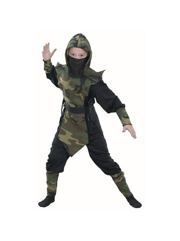 Childs Camouflage Ninja Costume-COSTUMEISH
