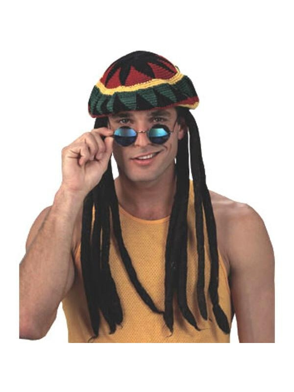 Adult Rasta Tam Hat Wig-COSTUMEISH