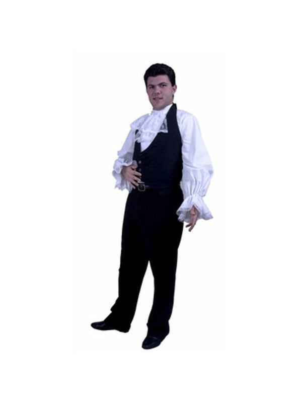Adult Vampire Shirt With Jabot-COSTUMEISH