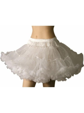 Adult White Soft Tulle Petticoat-COSTUMEISH