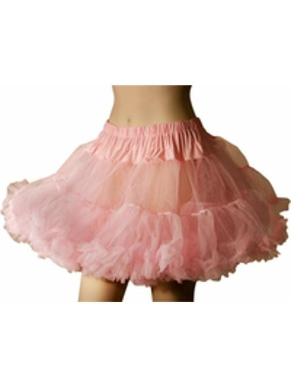 Adult Pink Soft Tulle Petticoat-COSTUMEISH