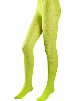 Lime Lycra Fishnet Pantyhose