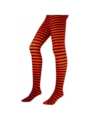 Adult Black / Red Striped Tights-COSTUMEISH