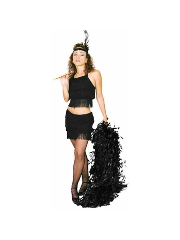 Adult Black Sexy Flapper Costume-COSTUMEISH