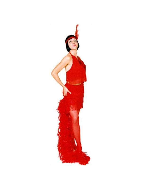 Adult Red Sexy Flapper Costume-COSTUMEISH