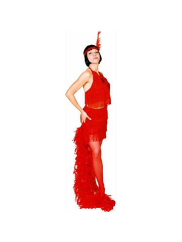 Adult Red Sexy Flapper Costume