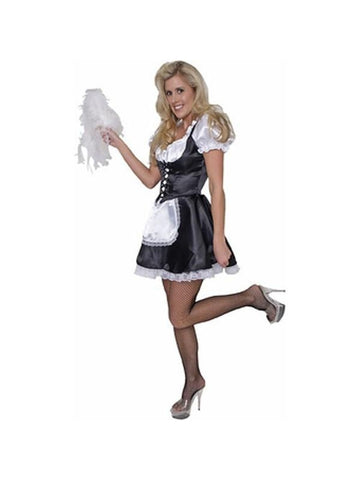 Adult Satin French Maid W/ Petticoat-COSTUMEISH