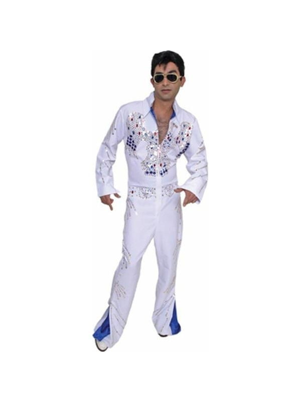 Adult Sequined Elvis Costume-COSTUMEISH