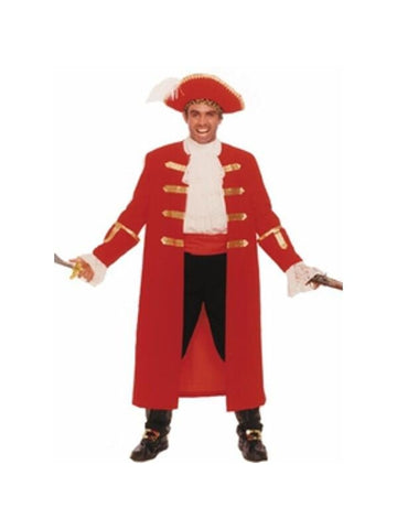 Adult Red Pirate Captain Costume