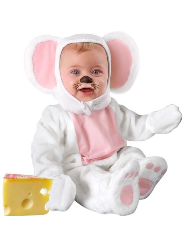Baby White Mouse Costume-COSTUMEISH
