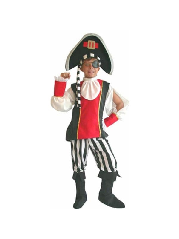 Childs Deluxe Pirate Costume-COSTUMEISH
