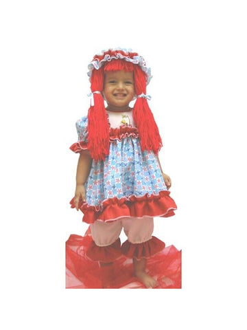 Childs Deluxe Rag Doll Costume