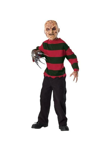 Child's Freddy Krueger Shirt & Mask-COSTUMEISH