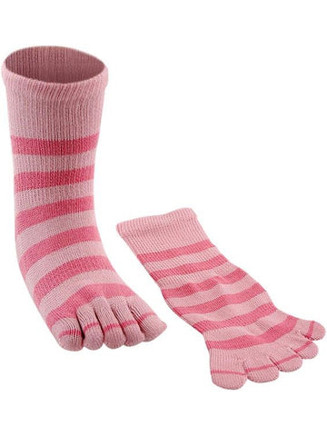 Two Tone Pink Toe Socks