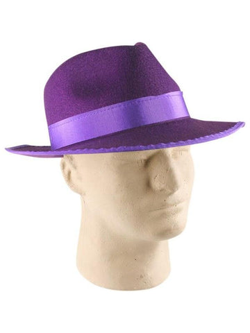 Purple Felt Pimp Hat-COSTUMEISH
