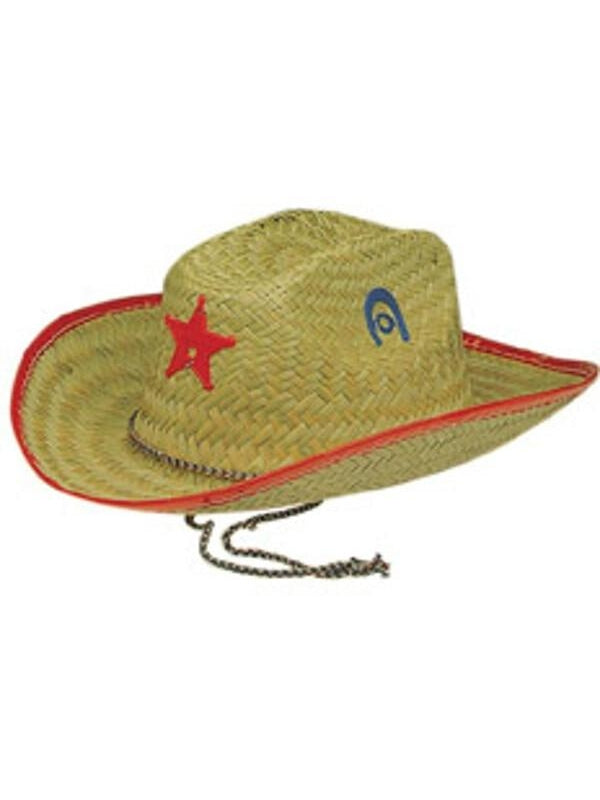 Child Straw Sheriff Hat-COSTUMEISH