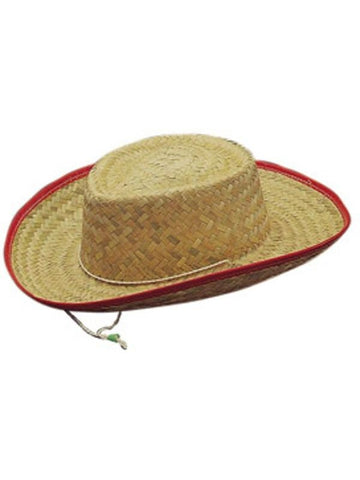 Child Straw Cowboy Hat-COSTUMEISH
