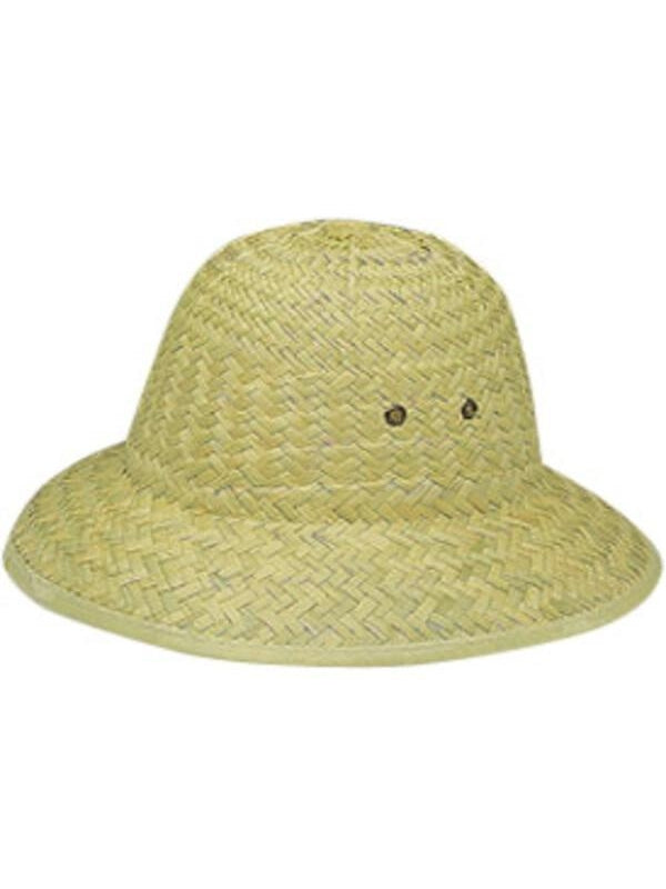 Straw Pith Helmet Hat-COSTUMEISH