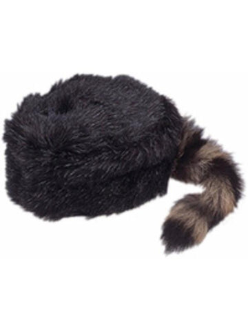 Coonskin Cap with Real Tail