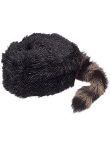 Child Coonskin Hat With Real Tail-COSTUMEISH