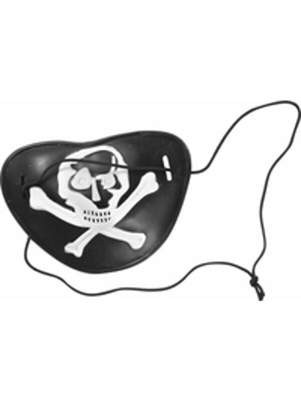 Plastic Pirate Eye Patch-COSTUMEISH