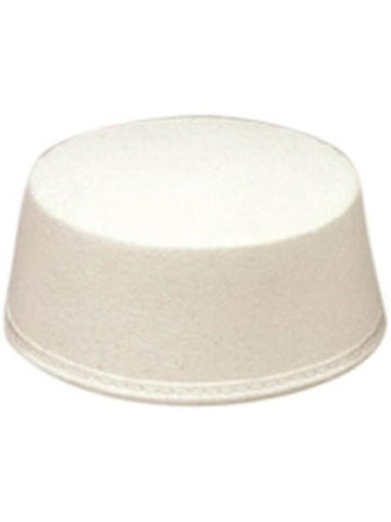 Adult White Pill Box Hat